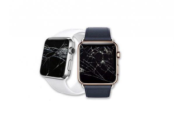 Màn hình Apple Watch bị vỡ kính chảy mực và bị sọc